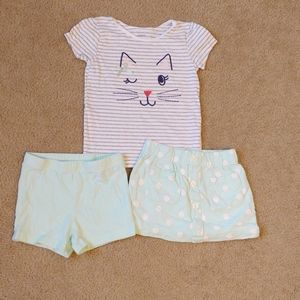 Carter's 4t 3 piece kitty outfit